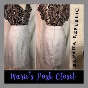 Cotton Linen Blend Pencil Skirt